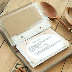 A Charming and Functional Recipe Journal Project - Somerset Place - Vintage inspired recipe crafts