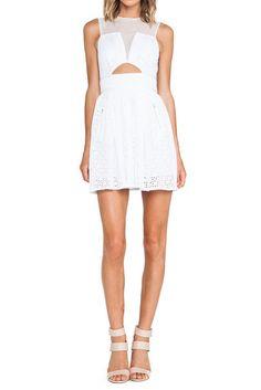 Cut out white dress