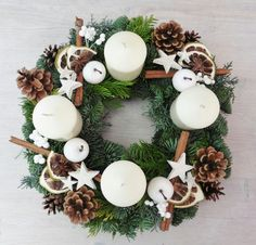 Newest Pics christmas Advent Wreath Strategies Quite a few churches number a good Advent-wreath-making celebration about the initial Saturday of yo Advent Wreath Candles, Christmas Advent Wreath, Christmas Candle Decorations, Christmas Mood, Christmas Candles, Christmas Crafts, Advent Wreaths, Nordic Christmas, Reindeer Christmas