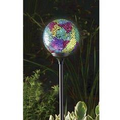 Solar Powered Garden Lights - Murano Globe - Terra (Pack of 2 ...