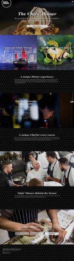 Finishing a month of hard work of design, concept and code for Vollmer's new restaurant Chefsdinner.se