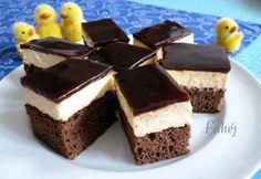 Kólás-kókuszkrémes szelet Hungarian Cake, Hungarian Recipes, Hungarian Food, Cake Cookies, Cupcakes, Coco, Coca Cola, Cake Recipes, Cheesecake