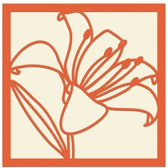 Silhouette Design Store - View Design #136586: tiger lily card