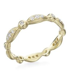Anne Sportun - Organic Collection 18K Yellow Gold Pave/Bezel Eternity Band