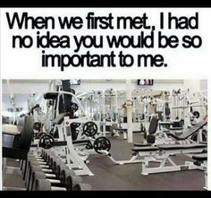 Gym humor. This is true love right here. Lol