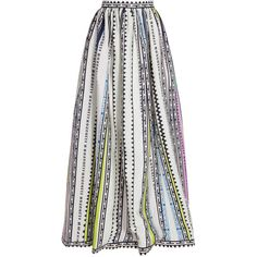 MARY KATRANTZOU Maxi Silk Print Skirt ($2,549) ❤ liked on Polyvore