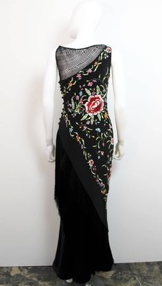 Vintage 1990's Bellville Sassoon Lorcan Mullany Silk Floral Dress 2