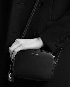saintlaurent, Classic MONOGRAM SAINT LAURENT camera bag in black ...