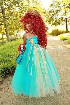 Merida/Brave Themed Tutu Dress Halloween Costume by ModernChicTots