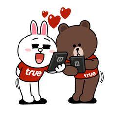 TrueMove H Fun Fest With Brown & Cony - free Sticker Line ขาย ...