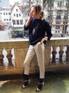 Inge's look. #loveisessentiel A sparkle of spring - Essentiel Antwerp