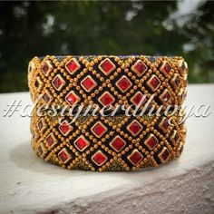 Silk Thread Bangles Design, Silk Bangles, Silk Thread Earrings, Bridal Bangles, Thread Jewellery, Bead Embroidery Jewelry, Beaded Embroidery, Crochet Baby Props, Janmashtami Decoration