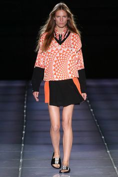 Fausto Puglisi Spring 2015 RTW – Runway – Vogue orange and black.