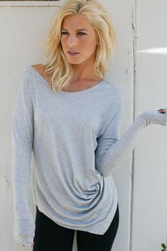 Knot Me Top - Heather Grey