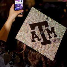 A rhinestone Texas A&M cap!? :D Definitely doing this in 4yrs!!