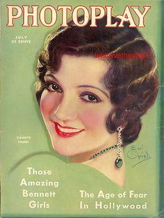 Photoplay Jul 1931 Claudette Colbert   Earl Christy Cover Art