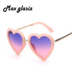 FuzWeb:Children Kids Sunglasses Heart Shaped Cute UV400 Frame Eyewear Baby Girls Sunglasses