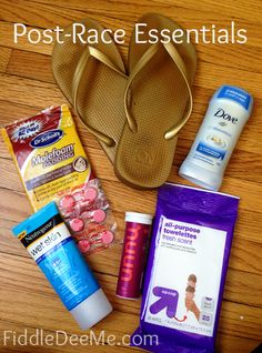 Post-race Essentials. You need something other then a PR to look forward to, once you cross that finish line!