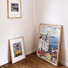 Collage Artwork, Collage Artists, Torn Paper, Shape And Form, Lisbon, Portugal, Art Pieces, Landscapes, Frames