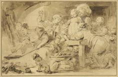 "Jean-Honoré Fragonard's ""Making Beignets"" (ca. 1782)."