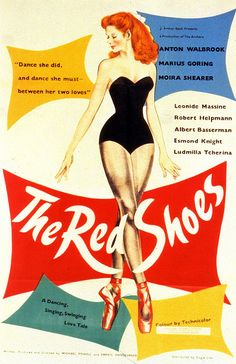 movie poster for the red shoes w/moira shearer (1948)