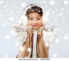 winter, people, happiness concept - happy little girl in winter clothes - stock photo Winter Outfits, Winter Clothes, Little Girls, Royalty Free Stock Photos, Images, People, Pictures, Happy, Collection