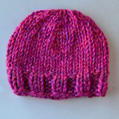 """I saw the yarn for this hat at the store and loved the color. I knew I wanted a hat. When I made it, my little one saw it and said, """"oh....."""