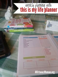 Weekly Planning and Meal Plan @ AVirtuousWoman.org #thisismylifeplanner #planner #mealplanning