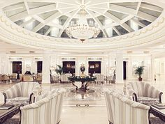 The State Hermitage Hotel in St Petersburg, Russia.