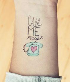 2 designy temporary tattoos - Call Me Maybe von Tattster auf DaWanda.com