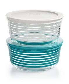 #Pyrex Striped 4-Pc. Storage Set, Only at Macy's - Serve stylishly, store safely and reheat the next day. That versatility is part of the beauty of this colorful striped 4-pc. Pyrex storage set.