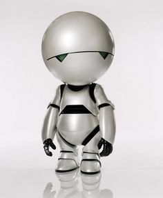 """Marvin the paranoid android. """"I'd make a suggestion, but you wouldn't listen. No one ever does."""" – Marvin, HG2G"""