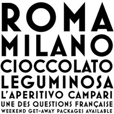 Mostra, Italian font inspired by art deco/posters of Italian age from the 30s