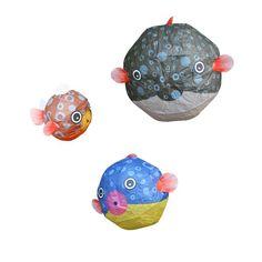 Set de 3 ballons poisson