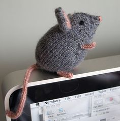 Mousie by Ysolda Teague knit in a 4ply fingering yarn