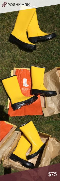 J Crew Wellies!  NWT- sizes 6 and 8 Perfect J Crew Wellies that are NWT- new in box with all tags.  They are the classic wellie- a must have! These are a vintage style from 2008 in perfect, unworn condition. Box is a little dented/smooshed on one side but does not affect the Wellies in any way. All items are from my home- everything fresh and clean! J. Crew Shoes