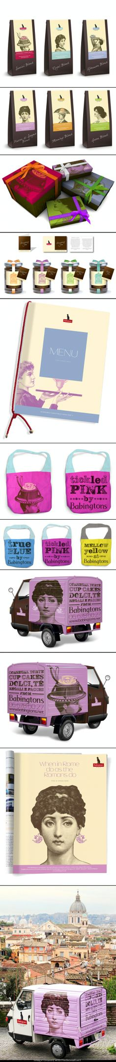 Who wants some tea now #identity #packaging #branding PD - created via http://www.packagingoftheworld.com/2011/11/babingtons-english-tea-rooms.html