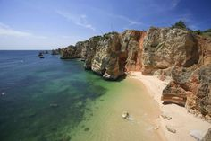 Praia de Dona Ana (or Dona Ana Beach) in Algarve, Portugal