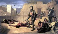 "Spanish Conquistadors Hernan Cortes | Emanuel Leutze, ""The Storming of the Teocalli by Cortez and HisTroops ..."