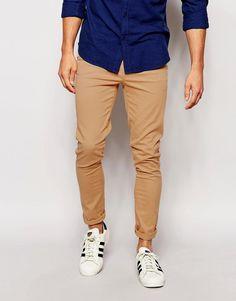 ASOS Super Skinny Pants In Soft Tan