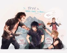FFXV: DORKS !! by Fiveonthe on DeviantArt