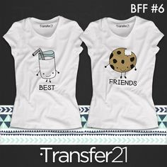 16 Most Creative Best Friends T-Shirt Designs Best Friend T Shirts, Bff Shirts, Best Friend Outfits, Couple Shirts, Best Friends, Cute Summer Outfits, Cute Outfits, Best Friend Costumes, Bff Goals