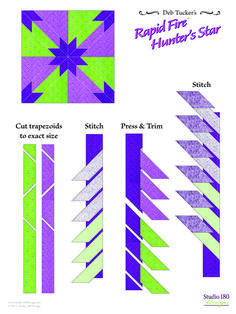 Star Quilt Patterns, Star Quilts, Easy Quilts, Pattern Blocks, Quilt Blocks, Block Patterns, Quilting Rulers, Quilting Tips, Quilting Tutorials