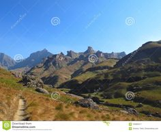 Photo about Mlambonja River valley at Garden Castle Nature Reserve of uKhahlamba Drakensberg National Park, South Africa. Image of drakensberg, nature, natural - 103693417 Nature Reserve, South Africa, National Parks, Southern, Castle, Victoria, River, Mountains, Landscape