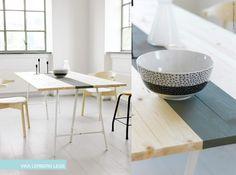diy table with ikea legs