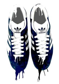 Adidas Trainers Painting