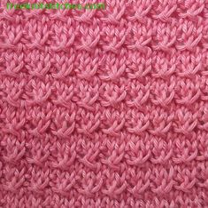 Decorative render knitting stitches