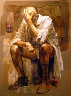 Hombre llorando de Safet Zec