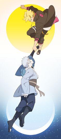 Naruto - Boruto Uzumaki x Mitsuki - BoruMitsu Naruto Uzumaki, Anime Naruto, Sasunaru, Boruto And Sarada, Naruto Art, Naruto And Sasuke, Otaku Anime, Narusasu, Shikamaru