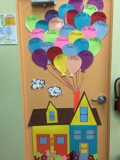 Kindergarten Classroom Door Decorations Ideas For 2019 Decoration Creche, Class Decoration, School Decorations, Kindergarten Classroom Door, Infant Classroom, Classroom Door Displays, Classroom Decor, Preschool Crafts, Crafts For Kids